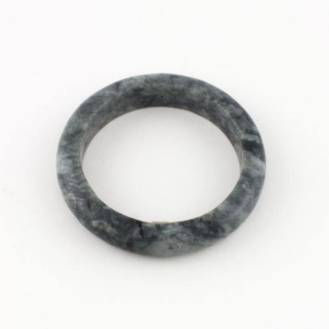 Dark green jade timeless bangle