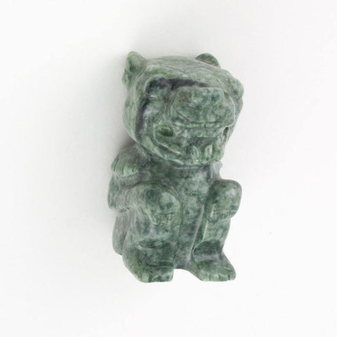 Small Green Jaguar Statue