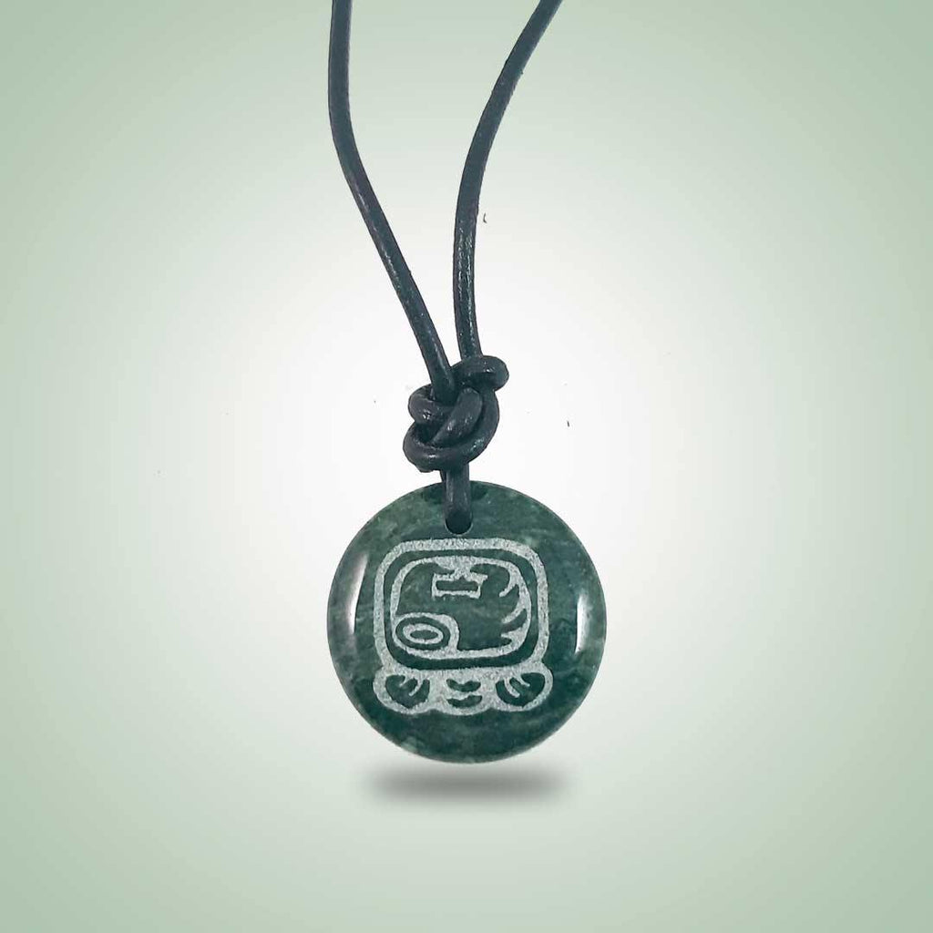 Large Mayan Sign Necklace (32mm)