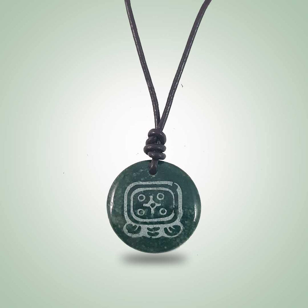 Q'anil Leather Necklace (32mm) - Jade Maya