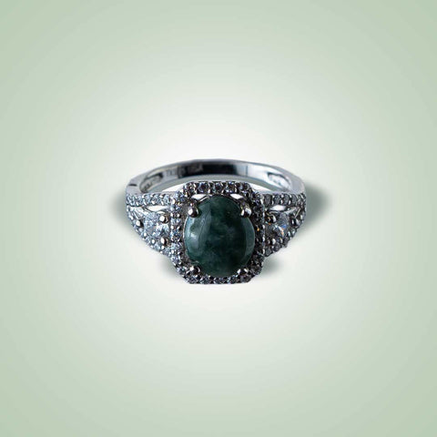 Green Aster Ring