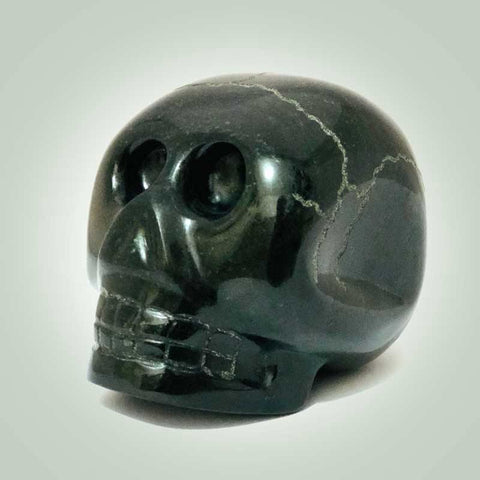 Medium Jade Skull Paper Weight