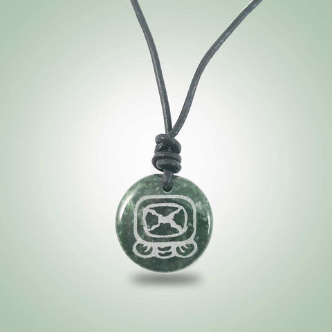 Tijax Leather Necklace (32mm) - Jade Maya