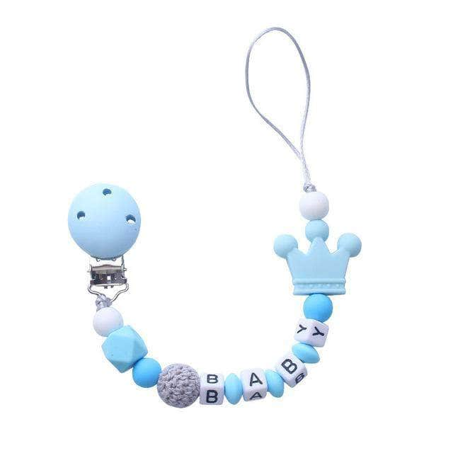 Abnex Blue Abnex Personalised Baby Pacifier, Beads Silicone Pacifier Chain Holder OODS0000971