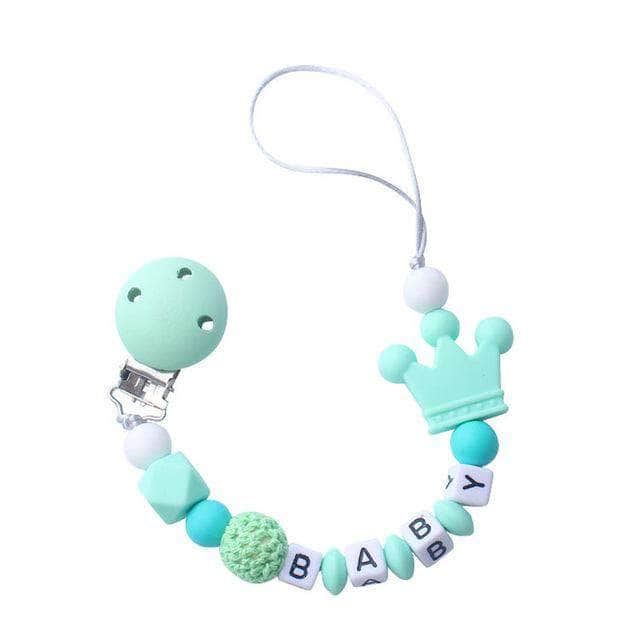 Abnex Green Abnex Personalised Baby Pacifier, Beads Silicone Pacifier Chain Holder OODS0000972