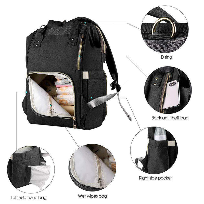 Anellie Fashion Maternity Nappy Bag Large Capacity Travel Backpack for Baby Care - Ooala