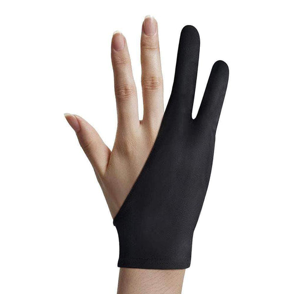 ArtNetic Artist Glove for Drawing Tablet, iPad (Smudge Guard, Two-Finger, Reduces Friction) - Ooala