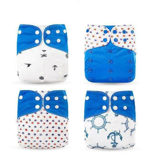 Awry Blue Awry Washable Eco-Friendly Cloth Diaper, Adjustable & Reusable Nappy OODS0000924