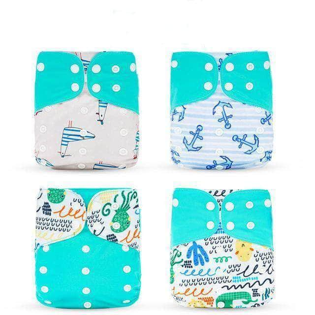 Awry Turquoise Awry Washable Eco-Friendly Cloth Diaper, Adjustable & Reusable Nappy OODS0000928