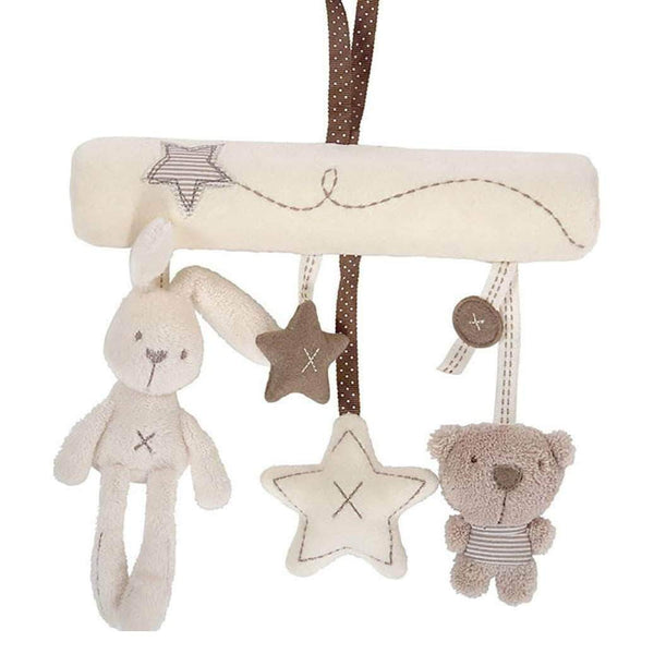 Babop Babop Hanging Rattle Toys Soft Baby Bunny & Bear Music Plush OODS0000544