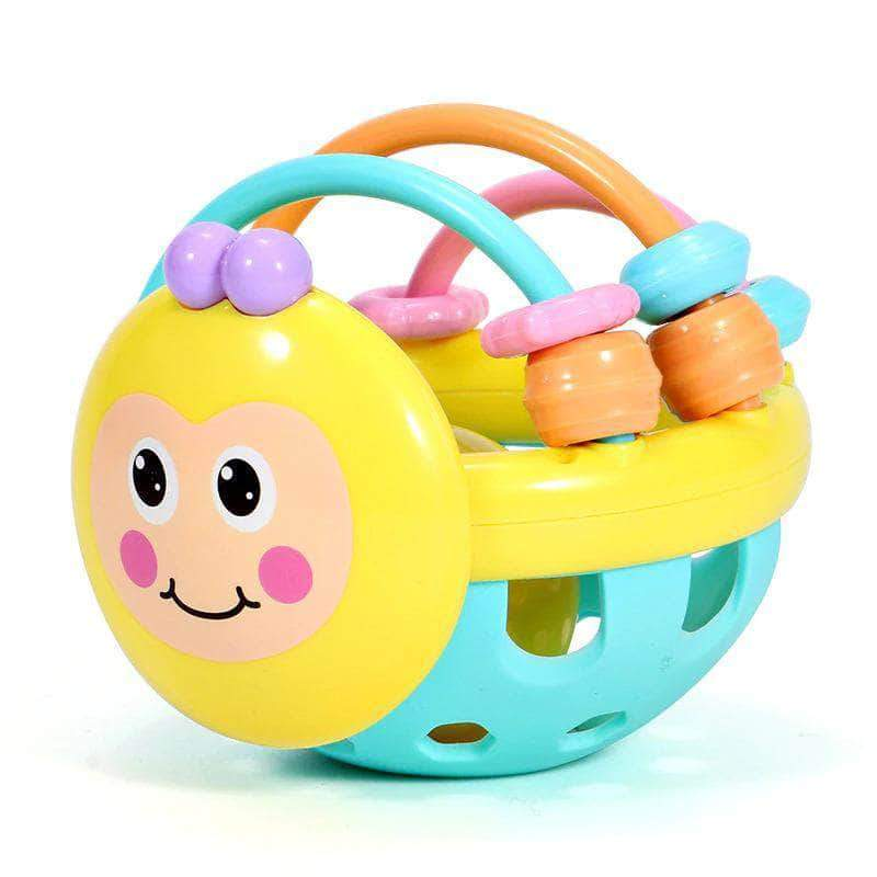Babytoys Soft Rubber Hand Rattle | Early Educational Toy For Baby 0-12 Months - Ooala