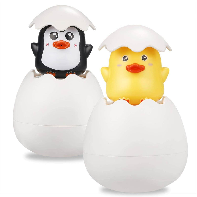 Bjird Bjird Penguin and Duck Egg Squirt Bath Toys OODS0001178