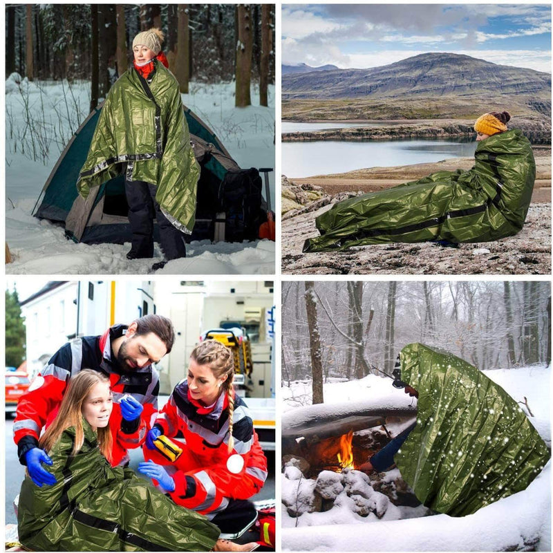 BluCamp Emergency Waterproof Outdoors Sleeping Bag | Lightweight Thermal Nylon Survival Sack - Ooala