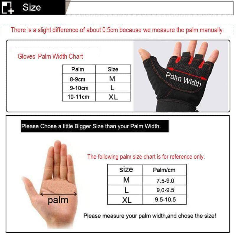 BodyCircuit BodyCircuit Gym Gloves for Body Building Fitness Exercise and Weight Lifting, Red