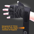 BodyCircuit BodyCircuit Gym Gloves for Fitness Exercise and Weight Lifting, Black