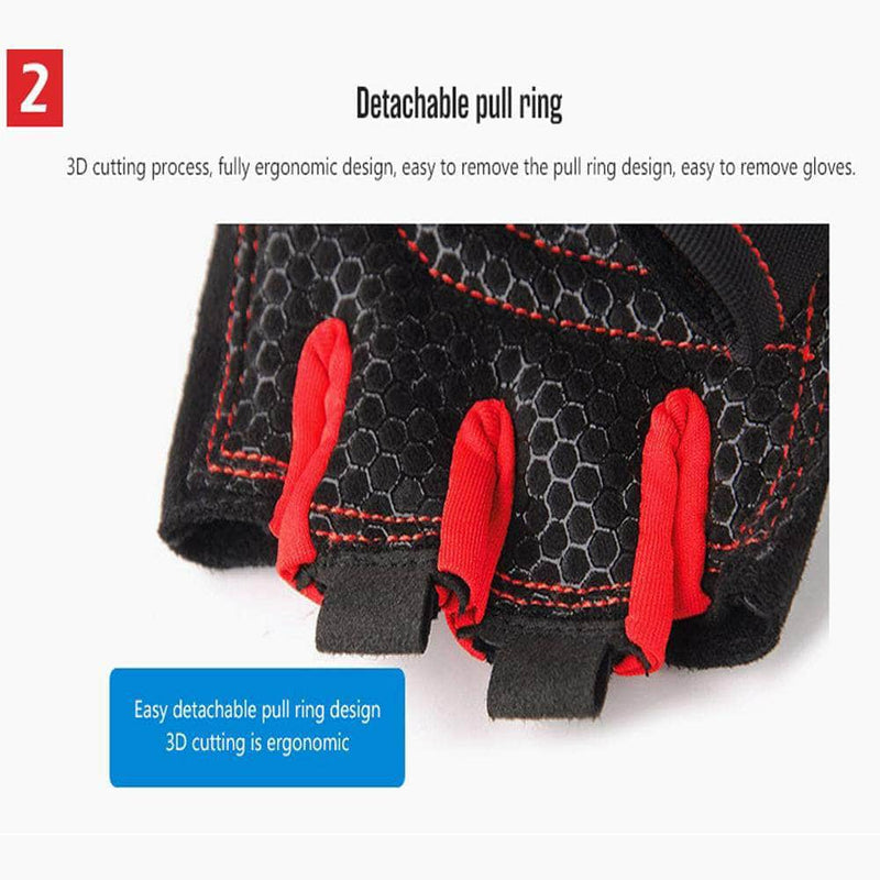 BodyCircuit BodyCircuit Gym Gloves for Fitness Exercise and Weight Lifting, Red