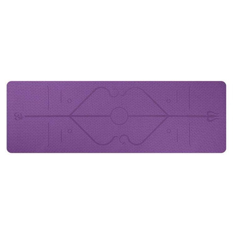 BodyPurge Eco-Friendly Non-Slip Yoga Mat with Body Alignment System