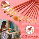 BookInk BookInk Paint Brush Set Nylon Hair Painting Kit│10 Pcs. OODS0000821