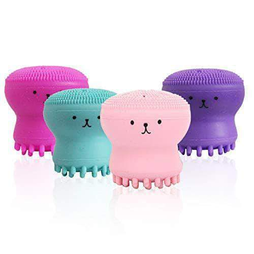 Brussh Brussh Facial Cleansing Silicone Handheld Face Brush Small Octopus Shape Face Scrubber & Massager