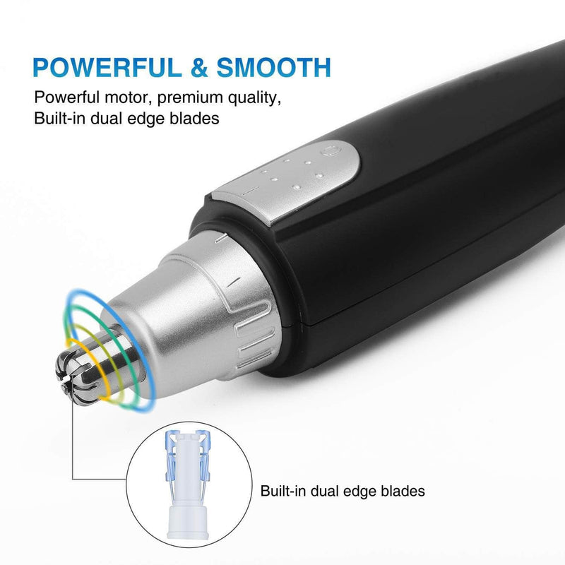 Bylil Bylil Professional Painless Nose Eyebrow and Facial Hair Trimmer Clipper Battery-Operated OODS0000982