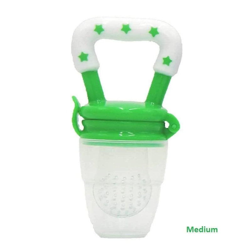 Calies Baby Fruit Feeder Pacifier - Fresh Food Feeder & Teething Toy for Toddlers & Kids│Green