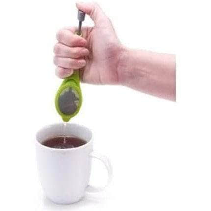 Chafill Chafill Portable Green Silicone Tea Infuser Strainer with Built-In Plunger OODS0000788