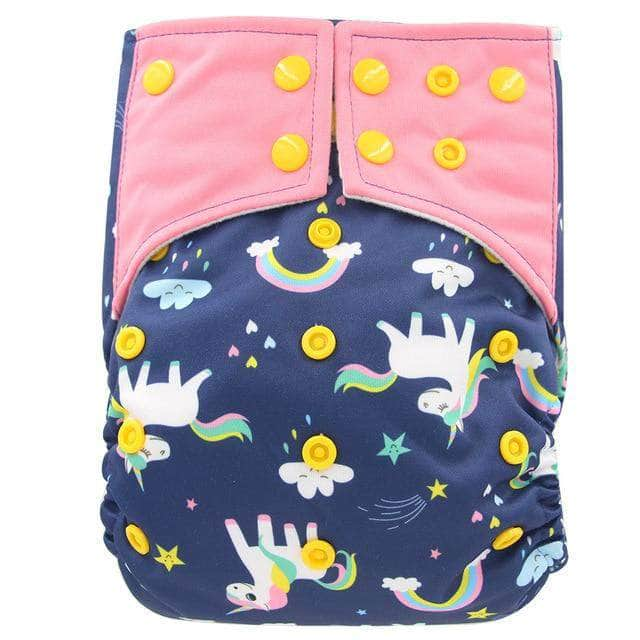 Charcosy Horse / one size adjustable Charcosy Double Gussets Baby Nappy, Reusable Bamboo Charcoal Cloth Diaper OODS0000803