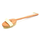 CHeRI Bath Body Brush Boar Bristles Exfoliating Massager with Long Wooden Handle Back Brush - Ooala