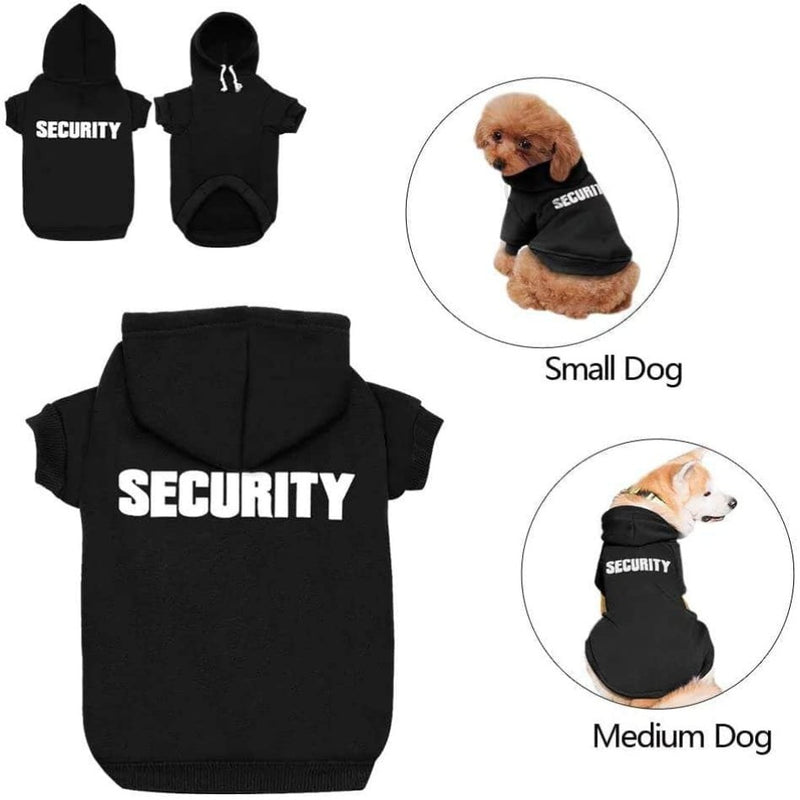 ChicAttire Security Pet Clothes |  Hoodies For Cats and Dogs, Black