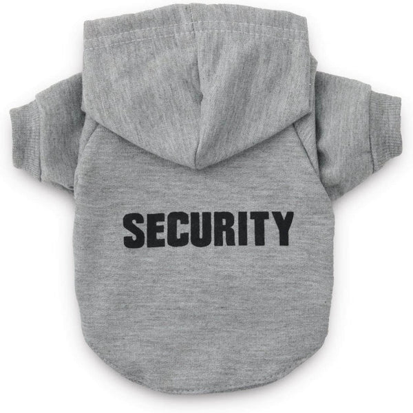 ChicAttire Security Pet Clothes |  Hoodies For Cats and Dogs, Gray