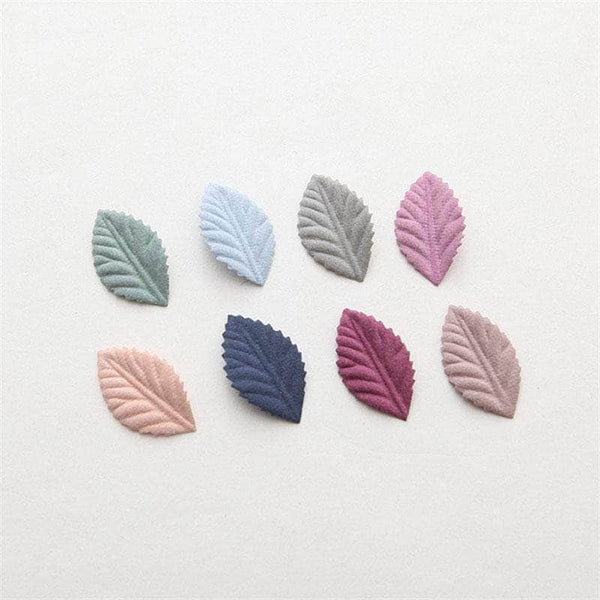 CraftLux CraftLux Handmade Leaves for Scrap booking and Art Craft DIY│50 Pcs in Assorted Colors OODS0001157