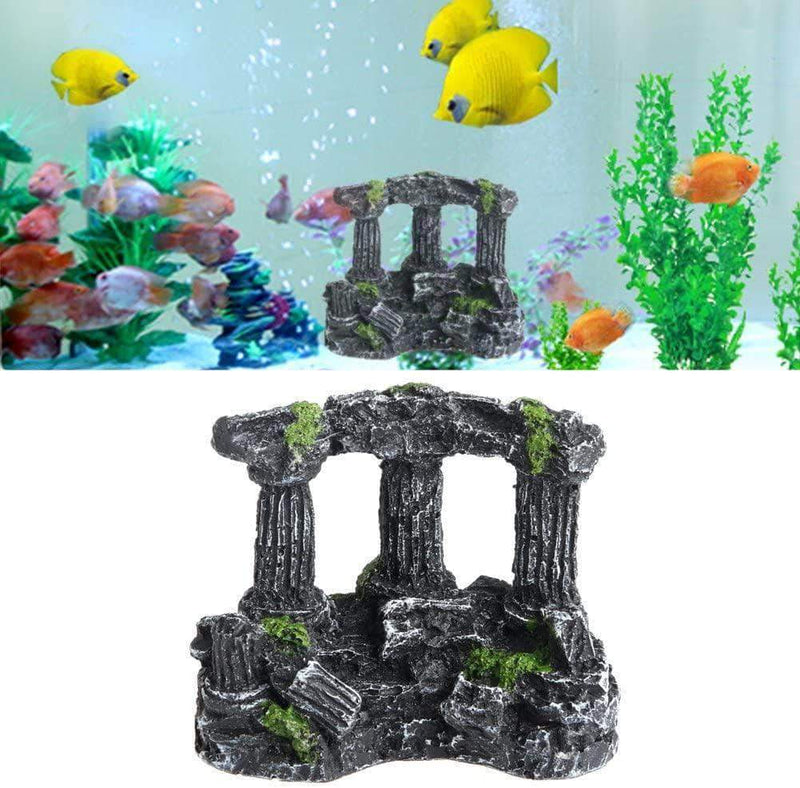 Wozti Aquarium Rome Stone Pillars Landscaping for Fish Tank Decoration - Ooala