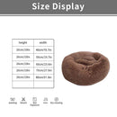 Cuppy 40cm Cuppy Calming Faux Fur Donut Cuddler Bed for Dog & Cat | Washable Round Pillow | Brown OODS0001024