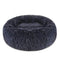Cuppy Cuppy Calming Faux Fur Donut Cuddler Bed for Dog & Cat | Washable Round Pillow | Gray