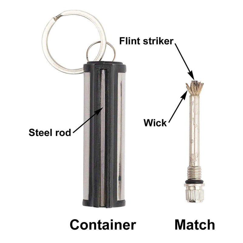 Darkzen Darkzen Waterproof Match Lighter | Outdoor Survival Tool, Flint Stone Striker