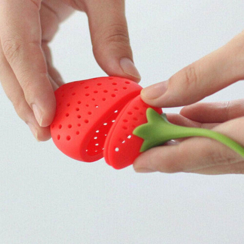 FirstBrew FirstBrew Strawberry Tea Strainer | Silicone Loose-Leaf Tea Infuser OODS0000895