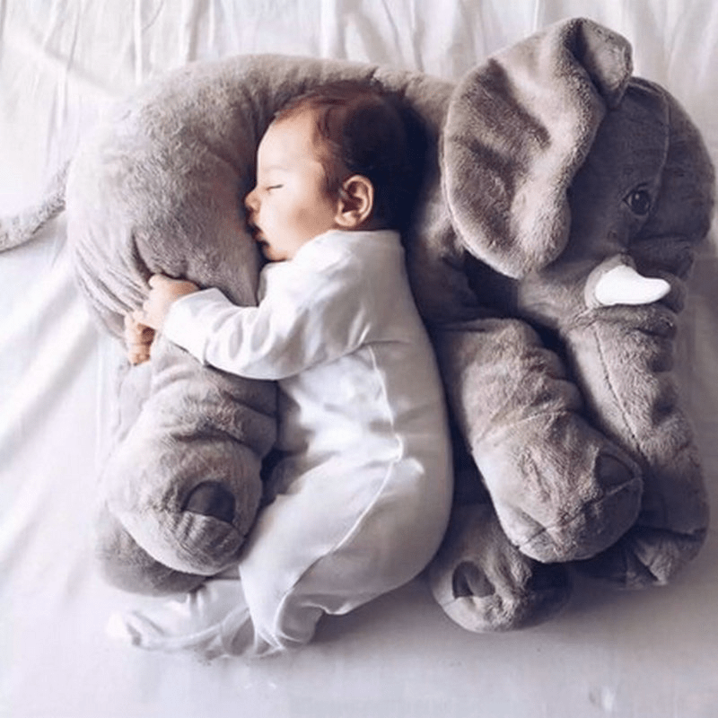 Fizzley Fizzley Elephant Stuffed Animal Baby Plush Toy, Kids Sleeping Back Cushion | 40CM