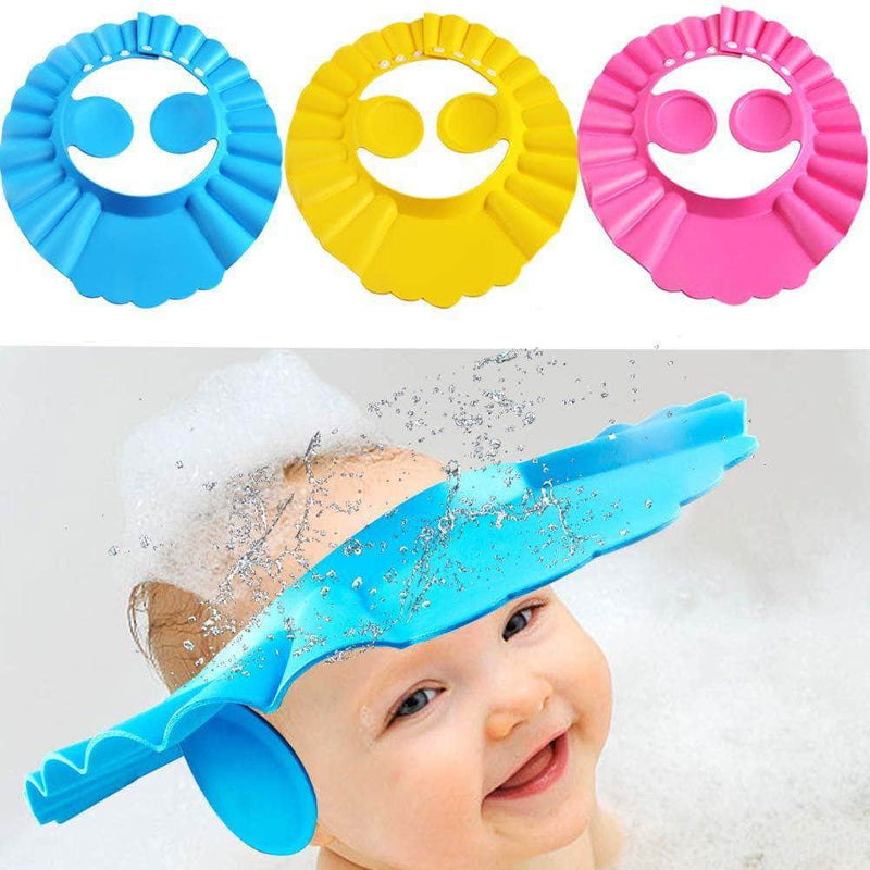 Fondle Fondle Baby Silicone Shower Cap w/ Ear Protection | Adjustable Bathing Hat for Infants & Toddler