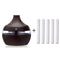 Forest Mist Forest Mist  7 Color Night Light Cool Mist Essential Oil Humidifier with 5 Cotton Swabs, Dark Brown OODS0000410