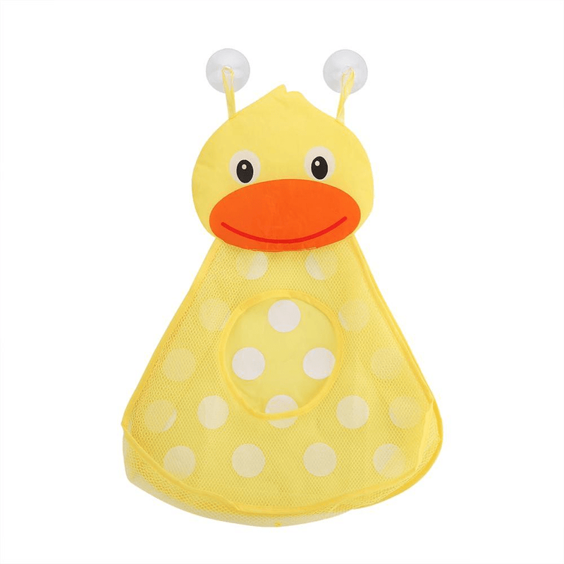 Geoviq Duck Geoviq Toy Storage Mesh with Strong Suction Cups | Toy Bag Net Bathroom Organizer OODS0001246