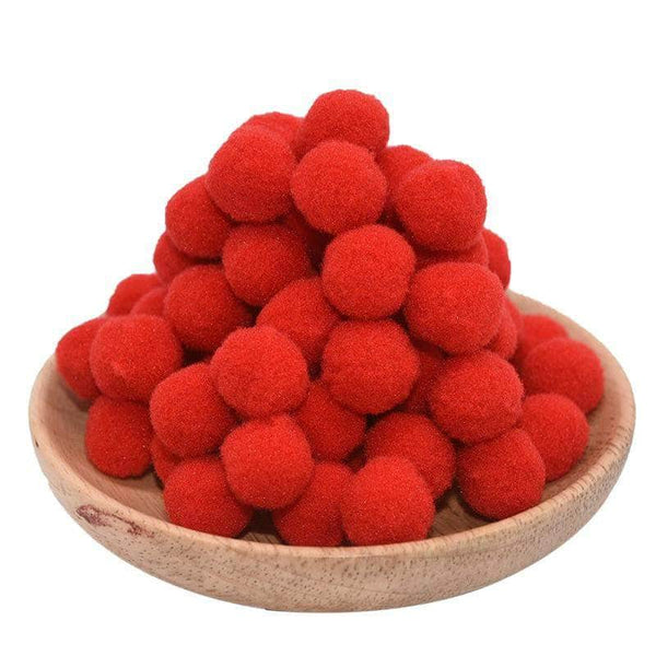 Gingo Gingo 15mm Soft Pom Pom Balls for Home Decor, Sewing Patterns & DIY Craft for Kids & Adults | 100Pcs