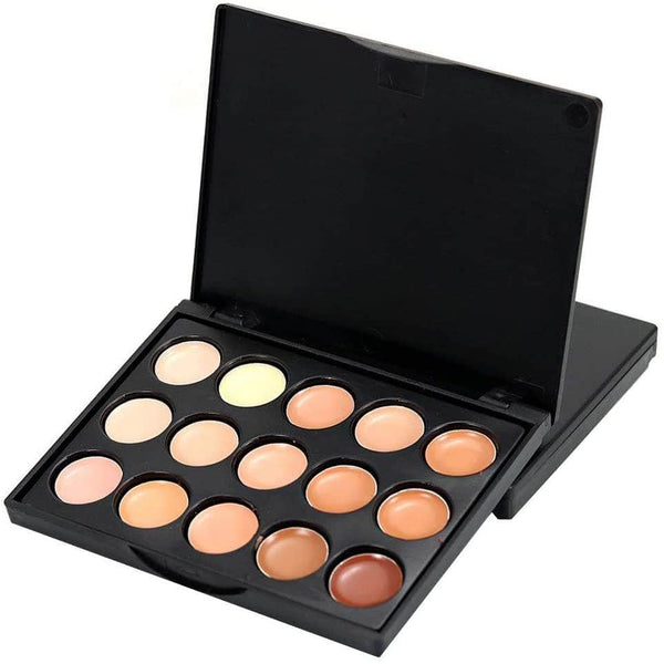 GirlFactor GirlFactor 15-Colors Contour, Concealer and Highlight Palette | Long Lasting and Pigmented OODS0000759