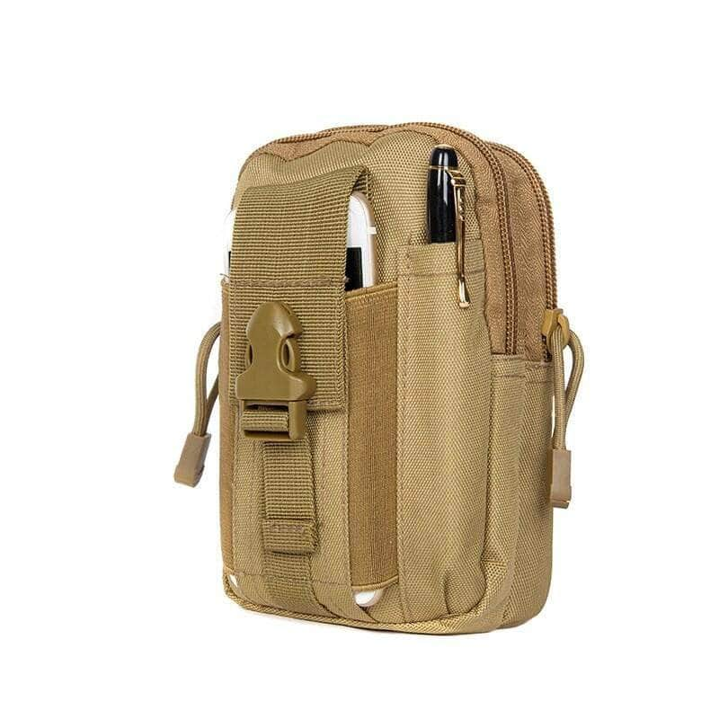 Haspex Khaki Haspex Men Tactical Molle Pouch, Belt Waist Pack Bag, Travel Camping Bag OODS0001427