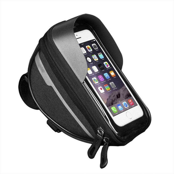 Hikush Black Bicycle handlebar Bag 36090172-black-other