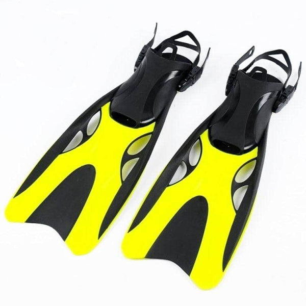 Hydrateq Yellow Hydrateq Professional Scuba Diving Fins | Adjustable Silicone Monofin Diving Flippers OODS0001405