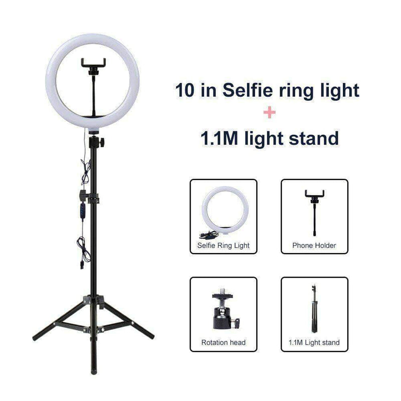 "InFocus 10"" LED Selfie Ring Light - Ooala"
