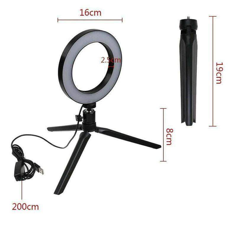 InstaBright 6 inch LED Ring Light with Tripod Stand - Ooala