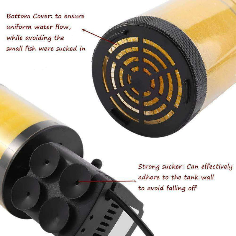 Interstellar Aquarium 3 in 1 Internal Filter | Submersible Oxygen Air Pump for Fish Tank | 25watts - Ooala