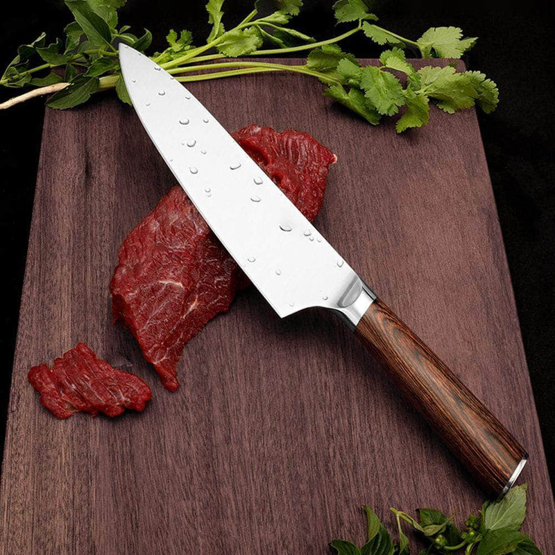 Karves Karves 8-Inch Japanese Chef Knife | High Carbon Steel Knife for Cooking OODS0001242