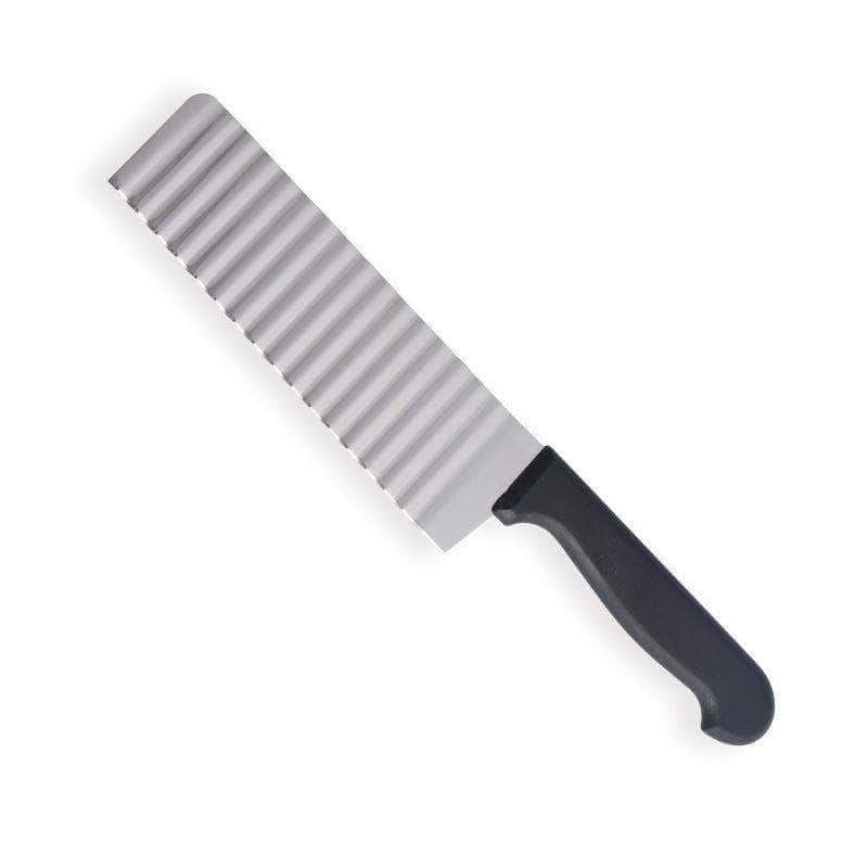 ChopSlice Stainless Steel Crinkle Cutter Knife, Ideal for Potato, Cucumber and Carrot - Ooala